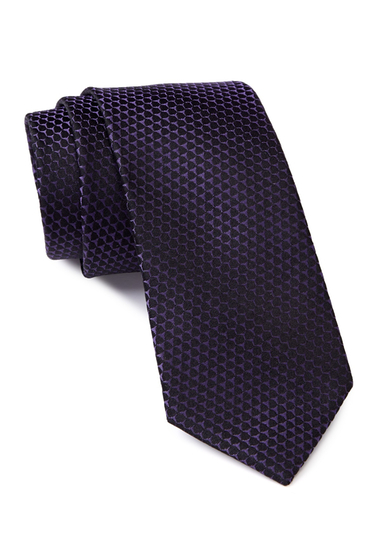Accesorii Barbati Calvin Klein Honeycomb Silk Tie PURPLE