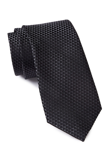 Accesorii Barbati Calvin Klein Honeycomb Silk Tie CHARCOAL