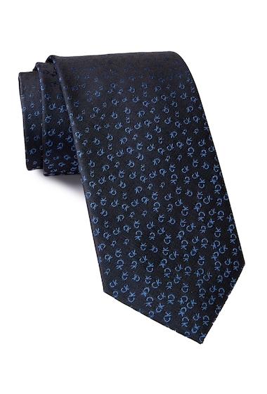Accesorii Barbati Calvin Klein Allover Tossed Logo Silk Tie NAVY