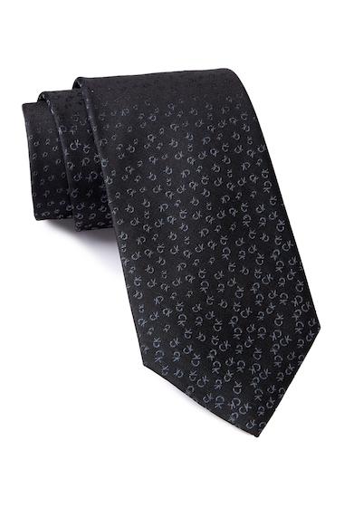 Accesorii Barbati Calvin Klein Allover Tossed Logo Silk Tie BLACK
