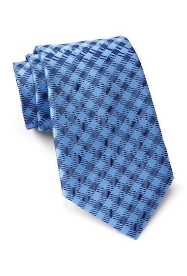 Accesorii Barbati Tommy Hilfiger Silk Anderson Grid Tie BLUE