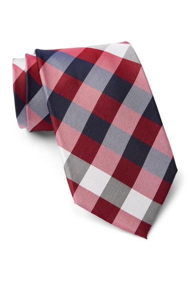 Accesorii Barbati Tommy Hilfiger Silk Multi Sized Gingham XL Tie RED