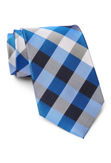 Accesorii Barbati Tommy Hilfiger Silk Multi Sized Gingham XL Tie BLUE