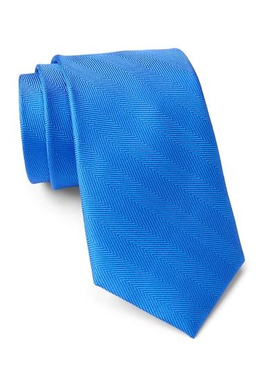 Accesorii Barbati Tommy Hilfiger Silk Herringbone Tie BLUE