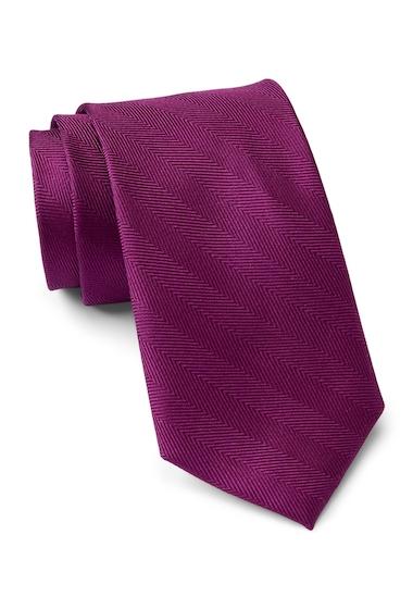 Accesorii Barbati Tommy Hilfiger Silk Herringbone Tie BERRY