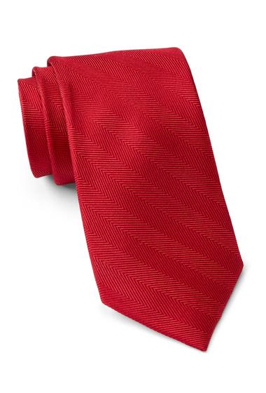 Accesorii Barbati Tommy Hilfiger Silk Herringbone Tie RED