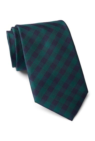 Accesorii Barbati Tommy Hilfiger Silk Micro Buffalo Tie HUNTER
