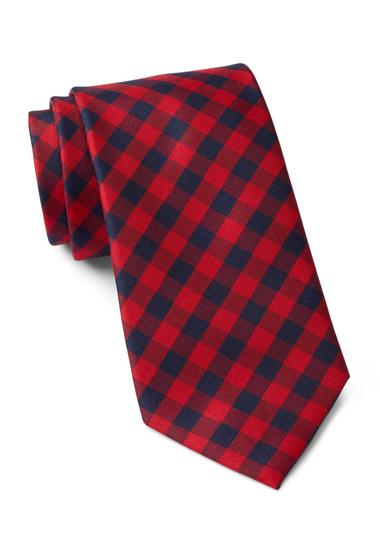 Accesorii Barbati Tommy Hilfiger Silk Micro Buffalo Tie RED