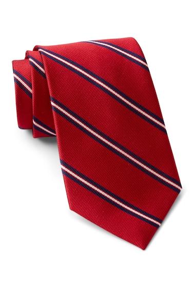 Accesorii Barbati Tommy Hilfiger Silk Repp Triple Bar XL Tie RED
