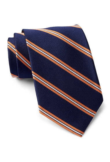Accesorii Barbati Tommy Hilfiger Silk Repp Triple Bar XL Tie ORANGE