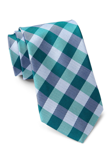 Accesorii Barbati Tommy Hilfiger Silk Big Gingham Tie TURQUOISE