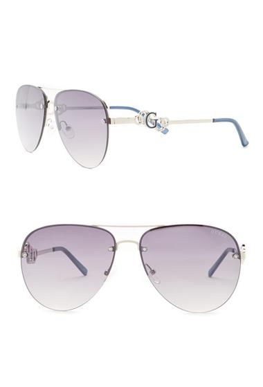 Ochelari Femei GUESS Womens Aviator Metal Frame Sunglasses SLTNICKSMKMR