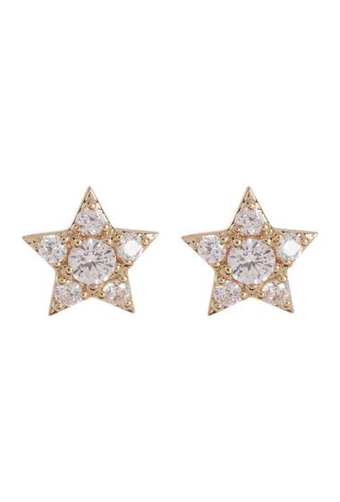 Bijuterii Femei NADRI Reminisce Prong Set CZ Star Stud Earrings GOLD