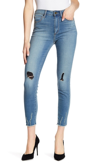 Imbracaminte Femei Articles of Society Heather High Rise Skinny Jeans BLUE BOTTLE