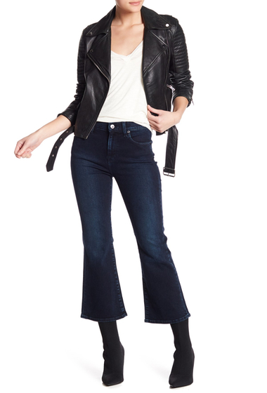 Imbracaminte Femei 7 For All Mankind Ali Cropped Wide Leg Jeans SMOKDIND