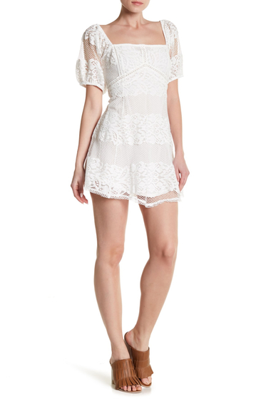 Imbracaminte Femei Free People Be Your Baby Lace Mini Dress IVORY