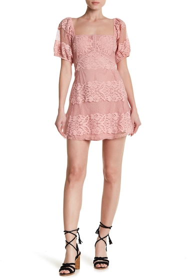 Imbracaminte Femei Free People Be Your Baby Lace Mini Dress PINK