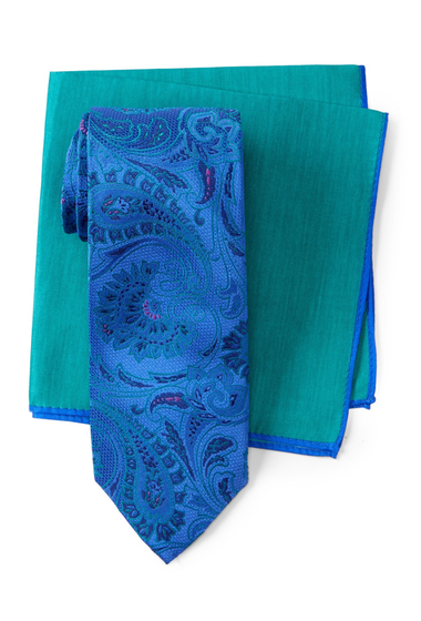 Accesorii Barbati Ted Baker London Lattice Paisley Silk Tie BRIGHT BLUE