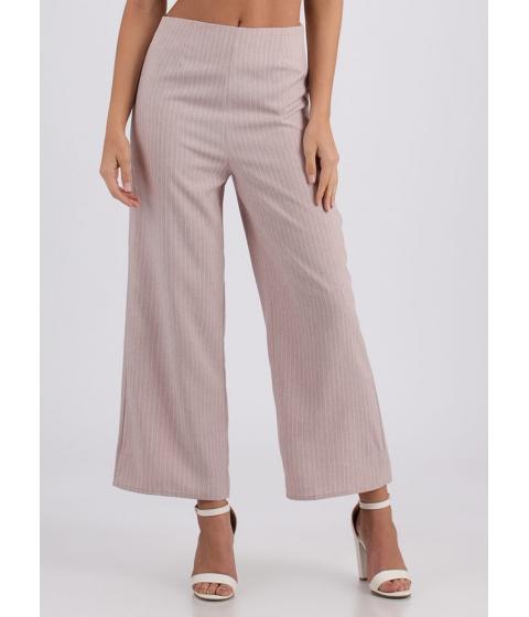Imbracaminte Femei CheapChic Along These Lines Wide Pinstriped Pants Mauve