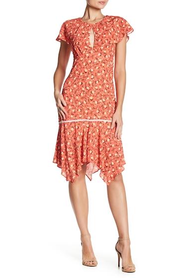 Imbracaminte Femei ABS Allen Schwartz Floral Deep V-Back Dress CORAL
