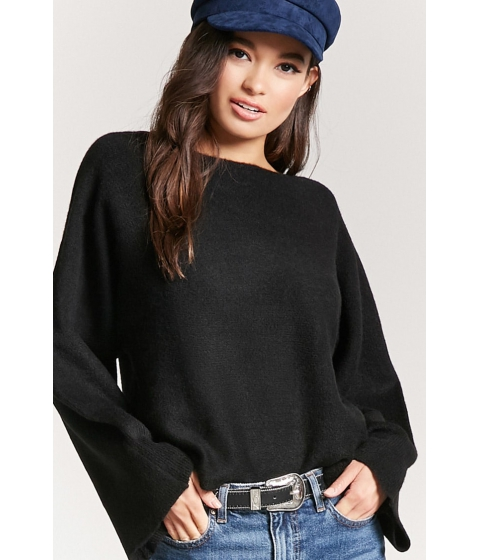 Imbracaminte Femei Forever21 Kimono-Sleeve Sweater BLACK