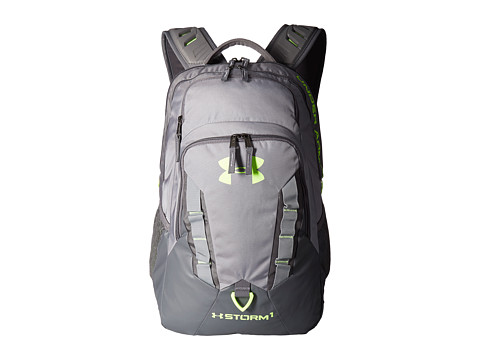 Genti Barbati Under Armour UA Recruit Backpack SteelGraphiteQuirky Lime