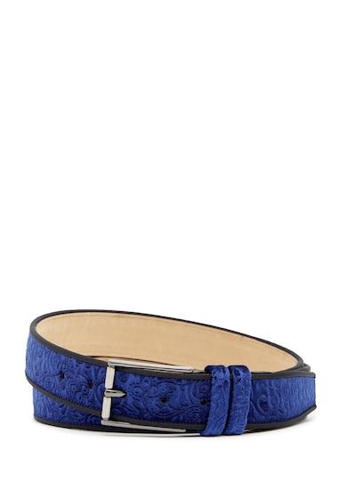 Accesorii Barbati Mezlan Terciopelo Embossed Velvet Belt BLUE