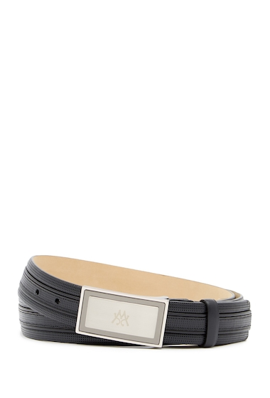 Accesorii Barbati Mezlan Perforated Leather Belt BLACK