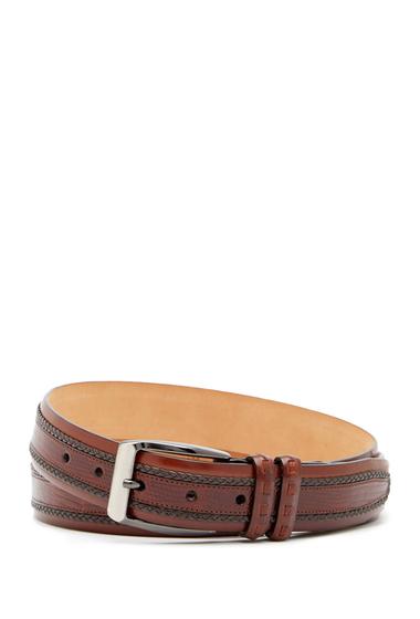 Accesorii Barbati Mezlan Parma Iguana Skin Belt COGNAC