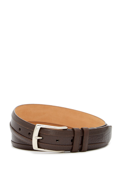 Accesorii Barbati Mezlan One Pebbled Leather Belt BROWN
