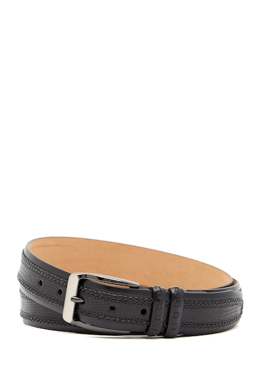Accesorii Barbati Mezlan One Pebbled Leather Belt BLACK