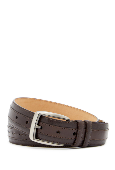 Accesorii Barbati Mezlan Ascot Perseo Leather Belt BROWN