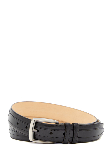 Accesorii Barbati Mezlan Ascot Perseo Leather Belt BLACK