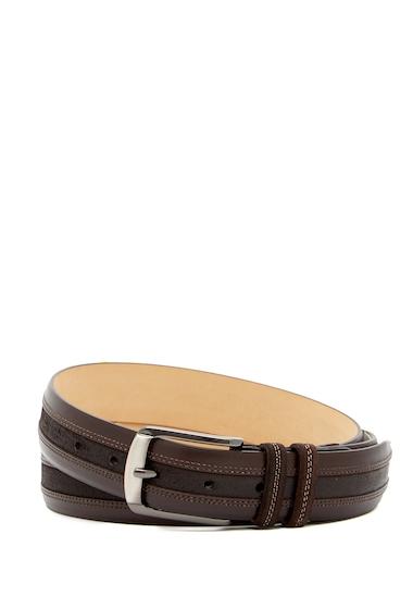 Accesorii Barbati Mezlan Calf LeatherSuede Belt BROWN