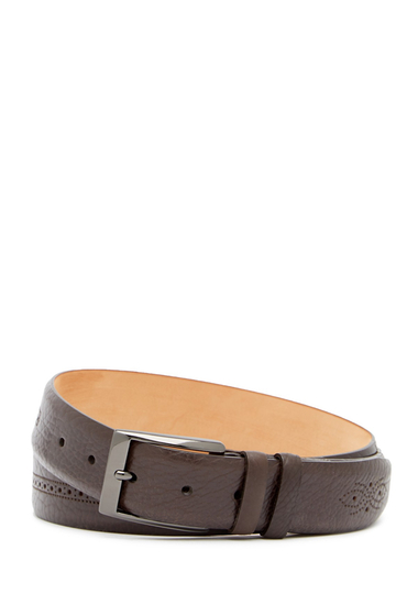 Accesorii Barbati Mezlan Perso Brogued Leather Belt BROWN