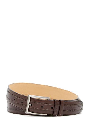 Accesorii Barbati Mezlan Deerskin Diver Leather Belt BROWN