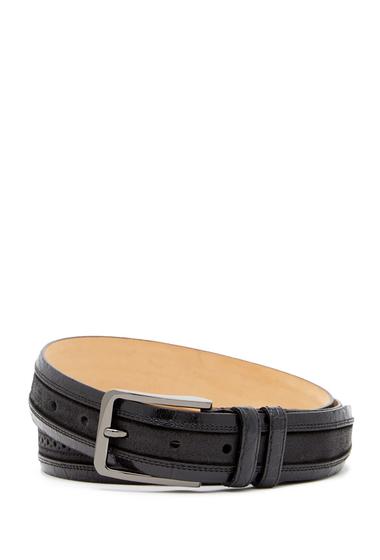 Accesorii Barbati Mezlan FuscusFuji Brogued Genuine Croc Belt BLACK