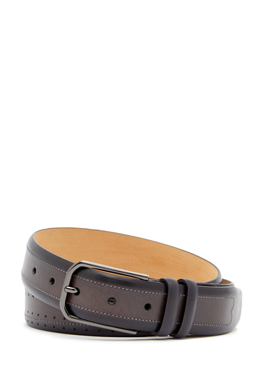 Accesorii Barbati Mezlan Diver Leather Belt BLACKGREY