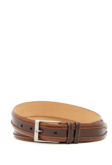 Accesorii Barbati Mezlan Diver Brogued Leather Belt BROWNTAN