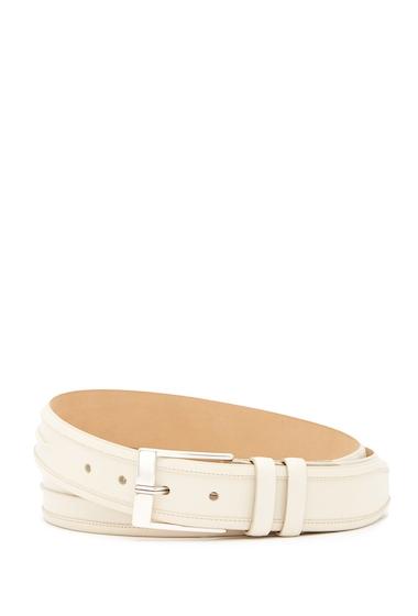 Accesorii Barbati Mezlan Parma Leather Belt BONE