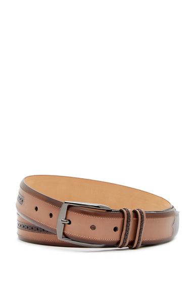 Accesorii Barbati Mezlan Diver Brogued Leather Belt BROWNTAUPE