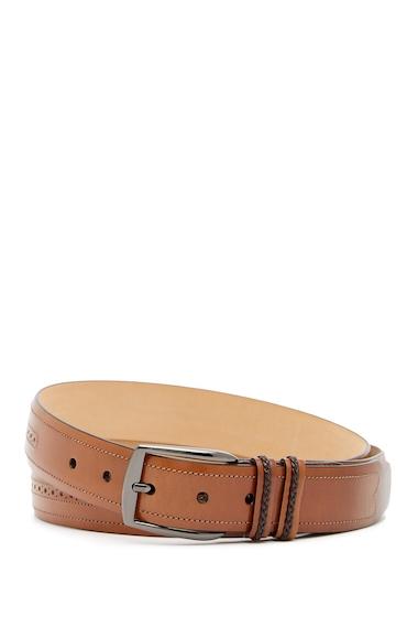 Accesorii Barbati Mezlan Diver Brogued Leather Belt TAN