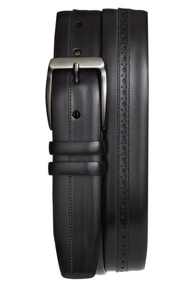 Accesorii Barbati Mezlan Diver Leather Belt GRAPHITE