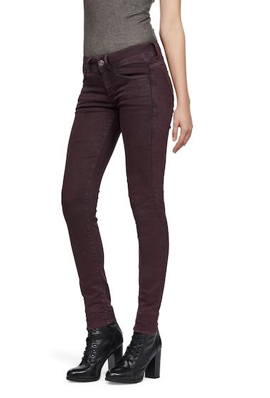 Imbracaminte Femei G-STAR RAW Lynn Mid Skinny Jeans BORDEAUX ELWAH SUPER STRETCH