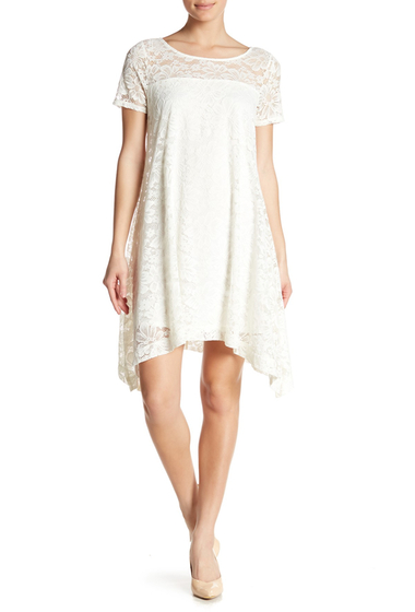 Imbracaminte Femei Robbie Bee Floral Lace Short Sleeve Dress IVORY