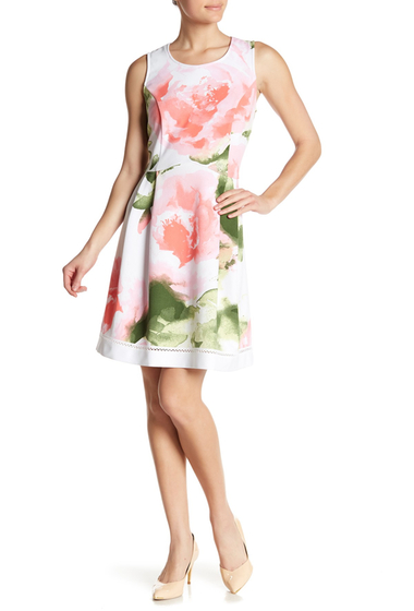 Imbracaminte Femei Robbie Bee Sleeveless Floral Dress WHITEPINK