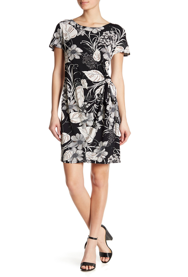 Imbracaminte Femei Robbie Bee Floral Short Sleeve Dress BLACKCREA