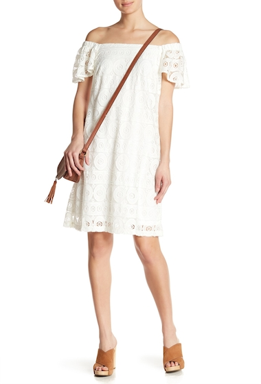 Imbracaminte Femei Robbie Bee Lace Off-the-Shoulder Dress IVORY