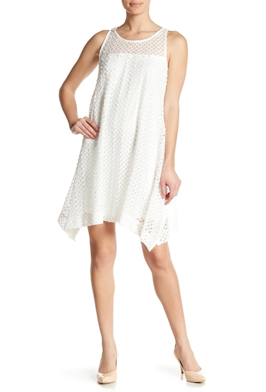 Imbracaminte Femei Robbie Bee Sleeveless Embroidered Handkerchief Dress IVORY