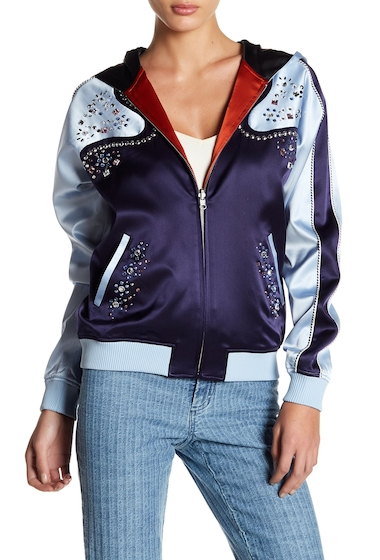 Imbracaminte Femei Opening Ceremony Love Strings Reversible Silk Track Jacket ECLIPSE MULTI